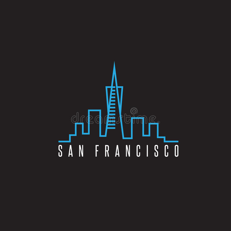 San francisco skyline vector design template. Illustration vector illustration