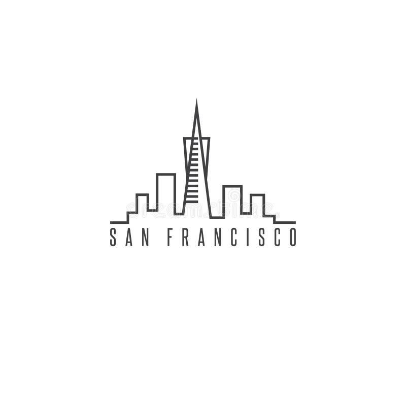 San francisco skyline vector design template. Illustration stock illustration