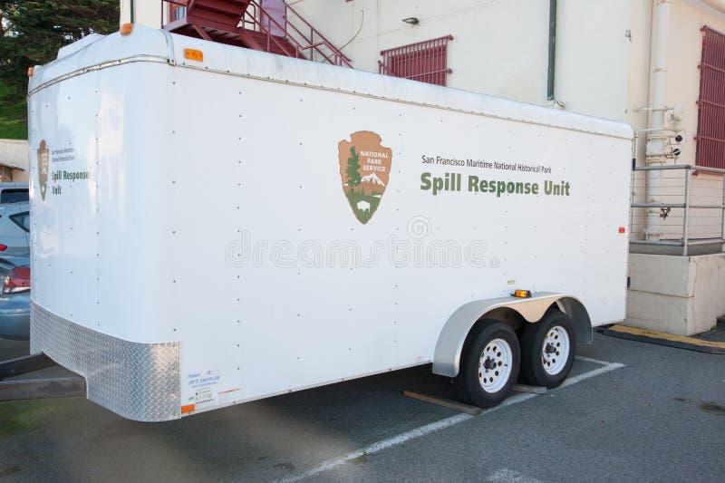 San Francisco Spill Response Unit arkivfoton