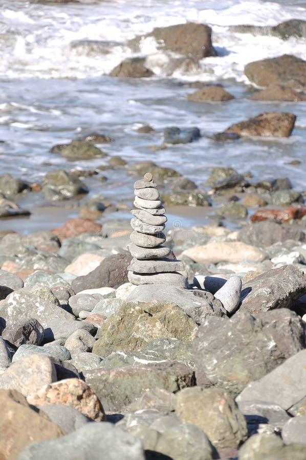 San Francisco Stack von Felsen durch den Pazifischen Ozean lizenzfreie stockbilder