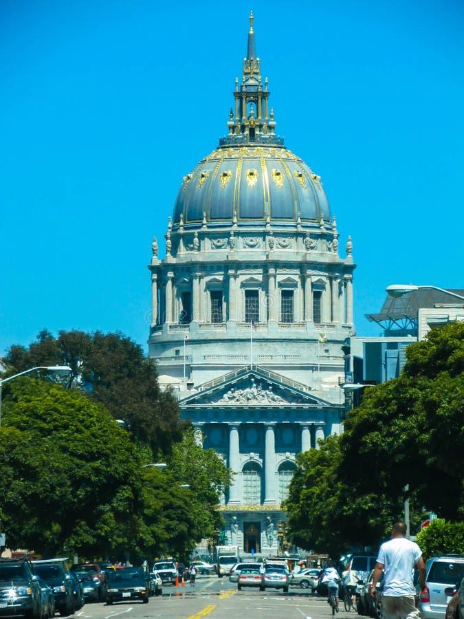 San Francisco stadshus royaltyfri fotografi