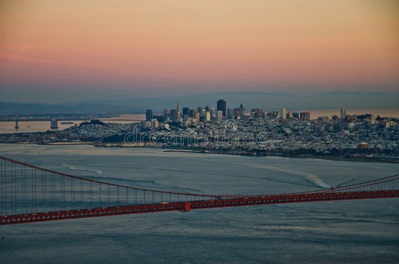 San Francisco Stadt-Skyline lizenzfreies stockfoto