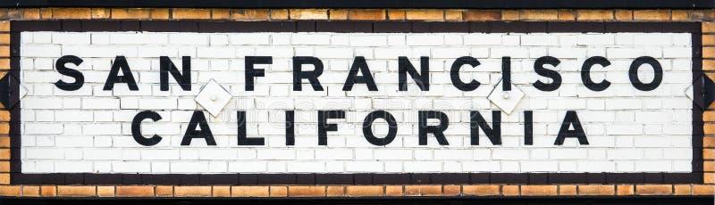 San Francisco Station Sign fotos de archivo libres de regalías