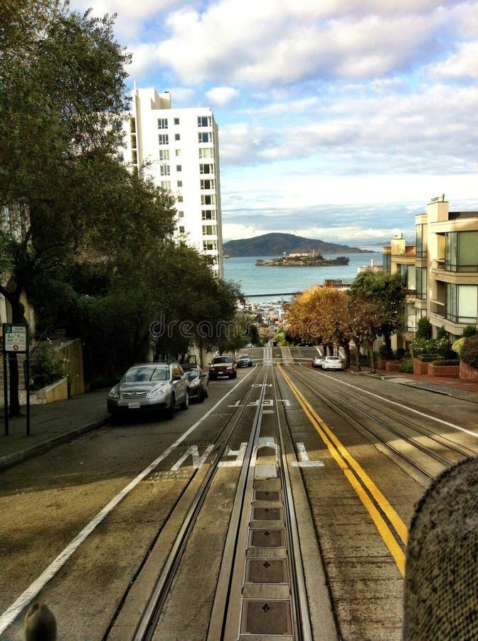 San Francisco-Straßenansicht Alcatraz stockbild