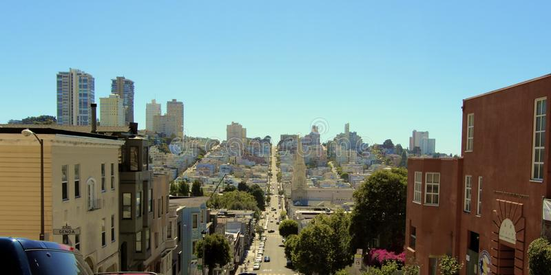 San Francisco street houses royalty free stock images