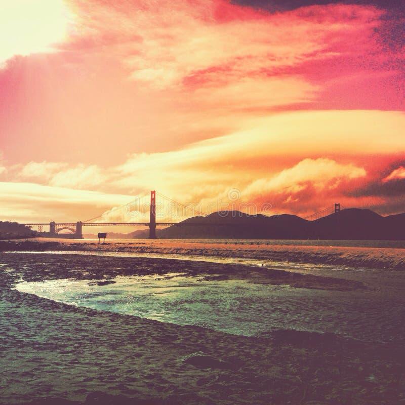 San Francisco Sunset immagine stock