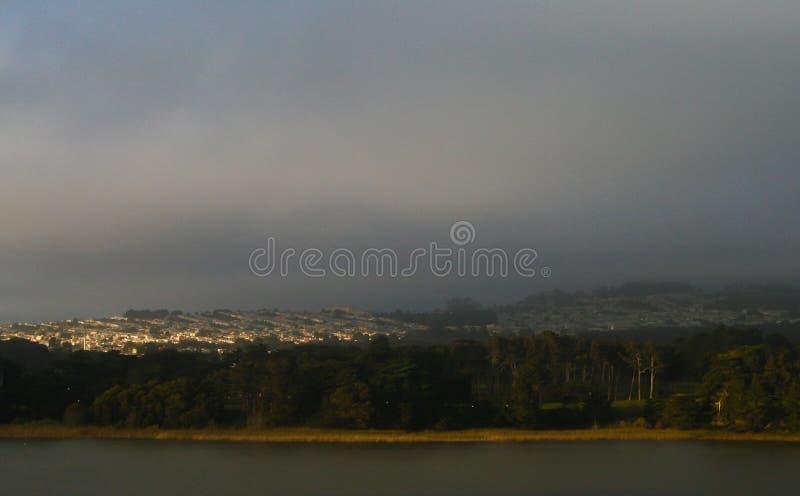 San Francisco Sunset District & Lake Merced stock images