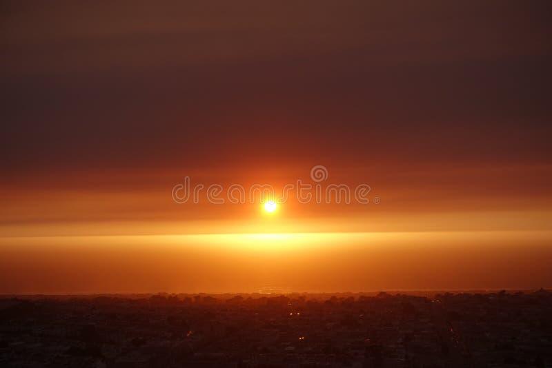 San Francisco Sunset 02945 - plage d'océan, le 12 octobre 2017 images libres de droits