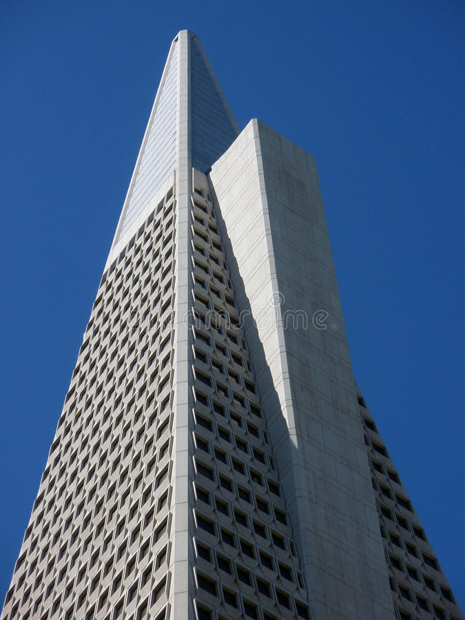 San francisco - transamerica pyramid. Transamerica pyramid and blue sky royalty free stock images