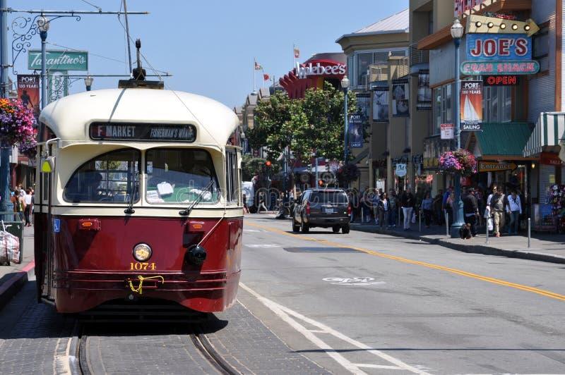 San Francisco trolley stock image