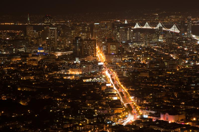 San Francisco from the Twin Towers royalty free stock photos