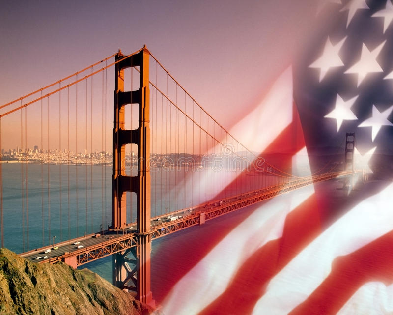 San Francisco - USA. The Golden Gate Bridge and the city of San Francisco in California in the USA