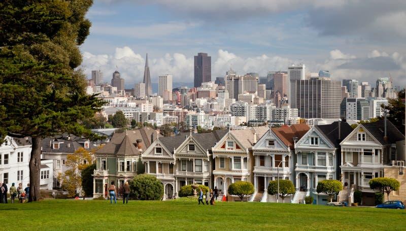 SAN FRANCISCO, USA - Distelfalter lizenzfreies stockbild