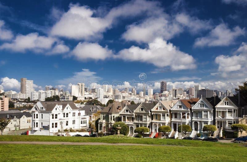 San Francisco-USA, målade damer arkivfoton