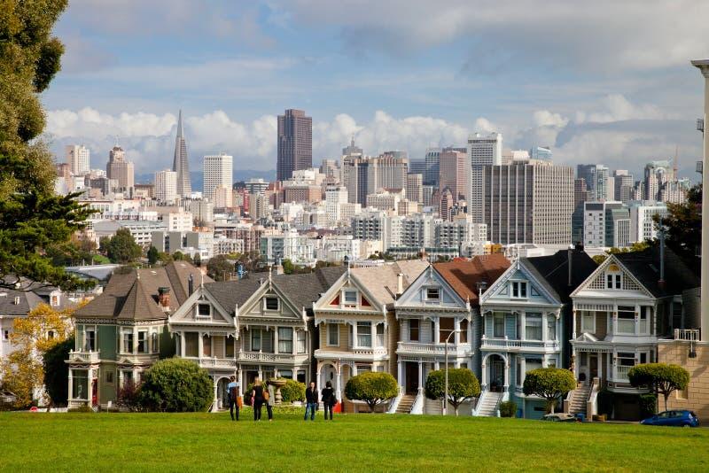 SAN FRANCISCO USA - målade damer royaltyfri foto