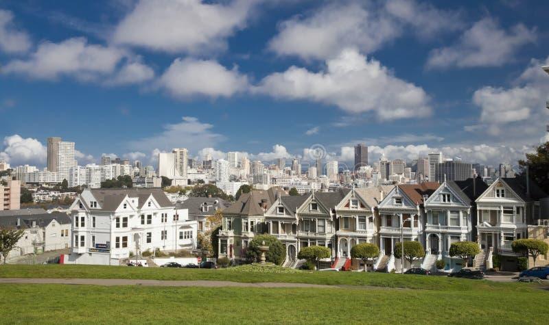 SAN FRANCISCO, USA - NOVEMBER 1, 2012: Painted Ladies stock photography