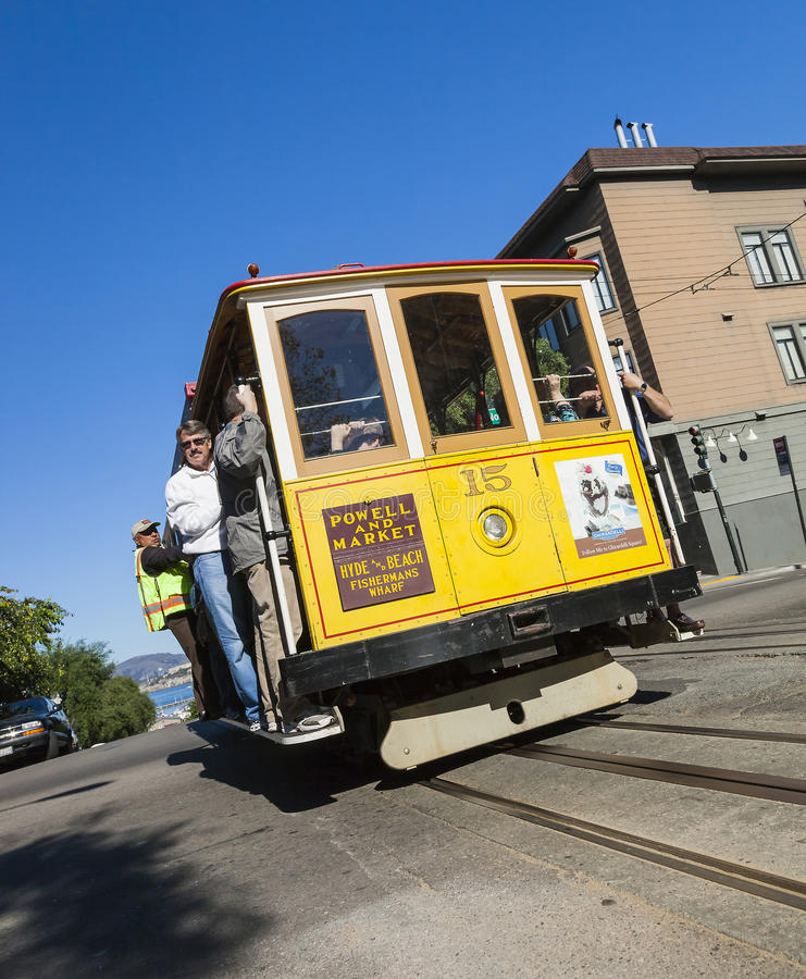 SAN FRANCISCO, USA - NOVEMBER 3, 2012: The Cable car tram. The S royalty free stock photography