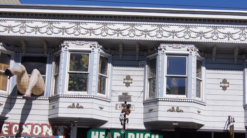 SAN FRANCISCO, USA - 5. Oktober 2014: Bezirk Haight Ashbury stockfotografie