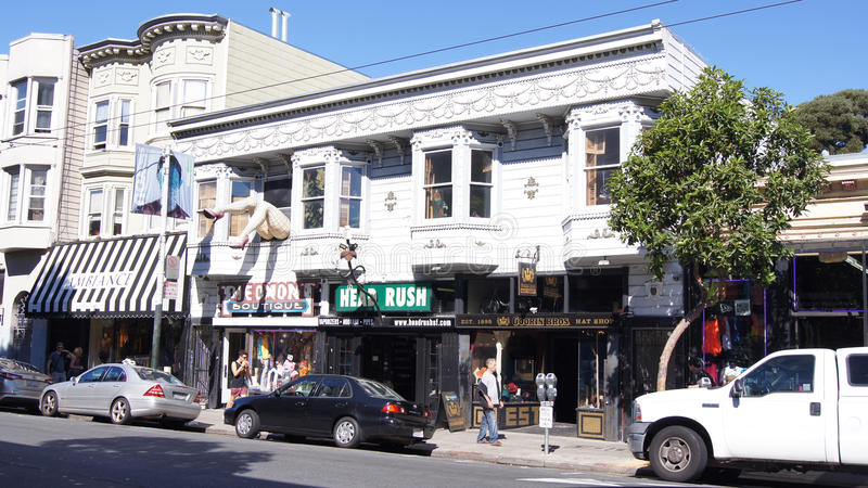 SAN FRANCISCO, USA - 5. Oktober 2014: Bezirk Haight Ashbury stockfotos