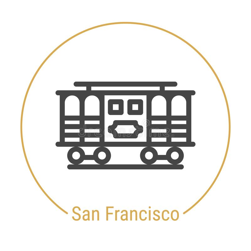 San Francisco, Vereinigte Staaten Vector Linie Ikone stock abbildung