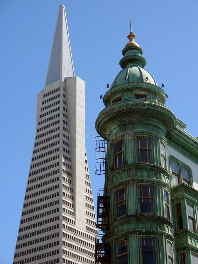 San Francisco - vieille et neuve photographie stock libre de droits