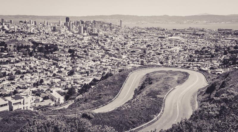 San Francisco vu depuis le Hights des crêtes jumelles photo libre de droits