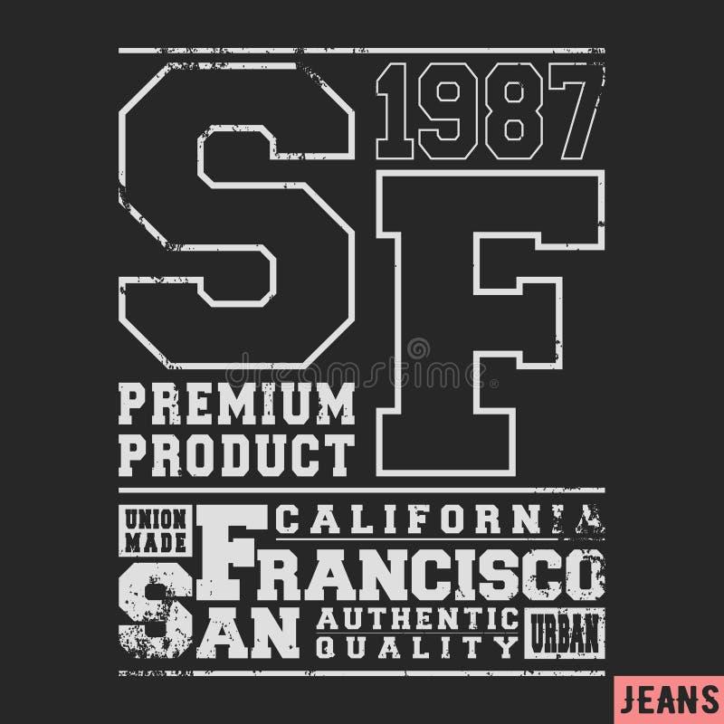San Francisco-Weinlesestempel lizenzfreie abbildung