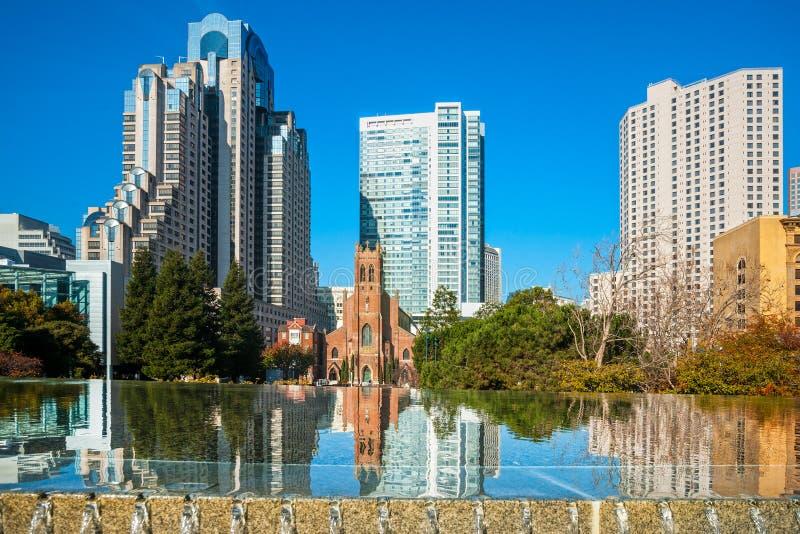 San Francisco Yerba Buena Gardens royalty free stock photos