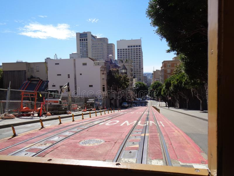 san Francisco z tramwajem obrazy stock