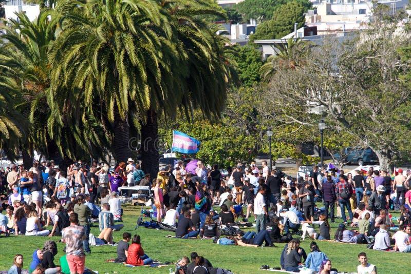 San Francisco zestiende jaarlijks trans Maart stock afbeeldingen