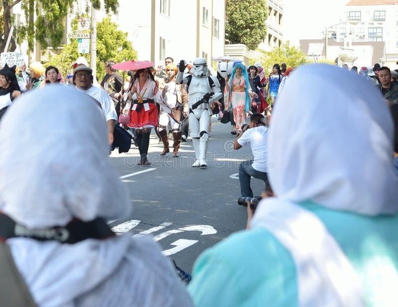 2014 San Fransisco Czereśniowego okwitnięcia festiwalu Uroczysta parada obraz royalty free
