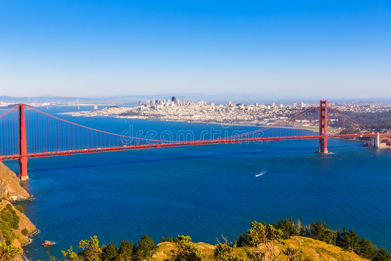 San Fransisco Golden Gate Bridge Marin headlands Kalifornia zdjęcie royalty free