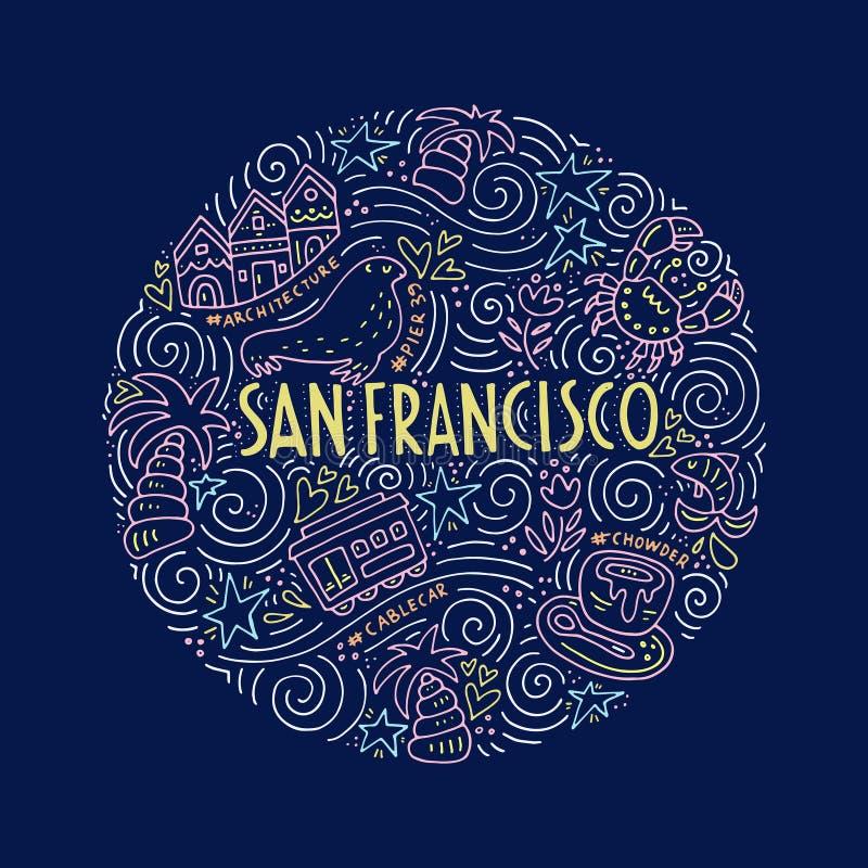 San Fransisco Illustration illustrazione vettoriale