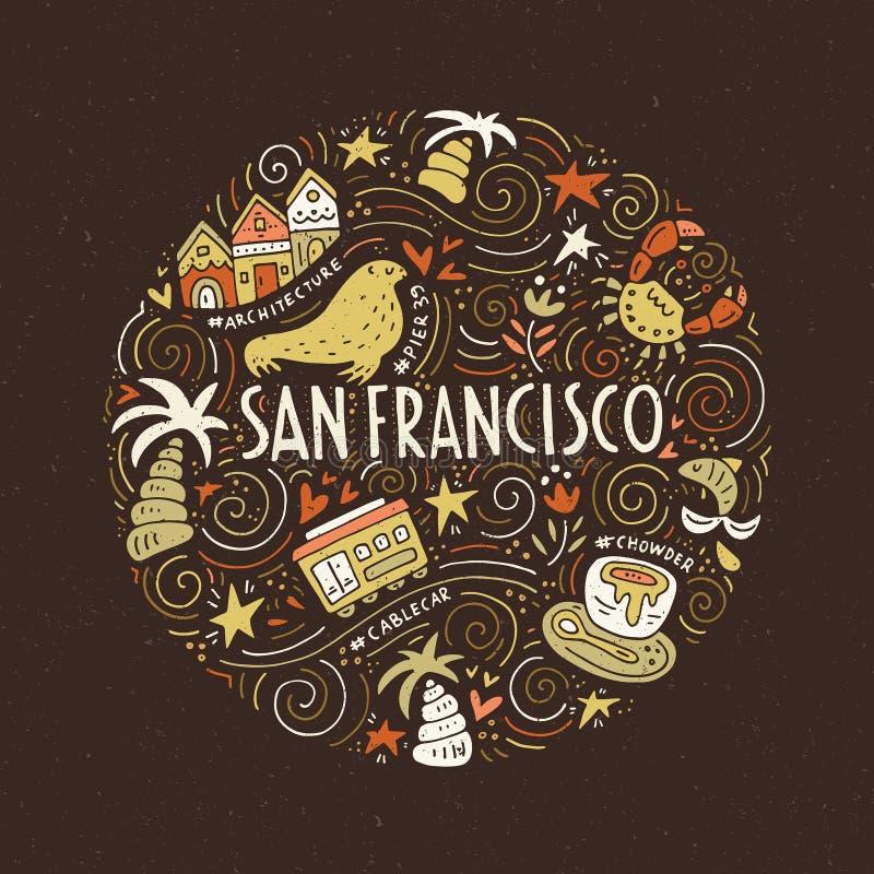 San Fransisco Illustration royalty illustrazione gratis