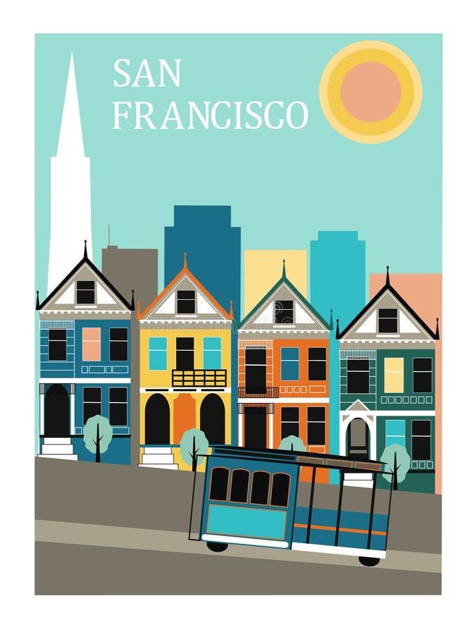 San Fransisco Kalifornia. ilustracji