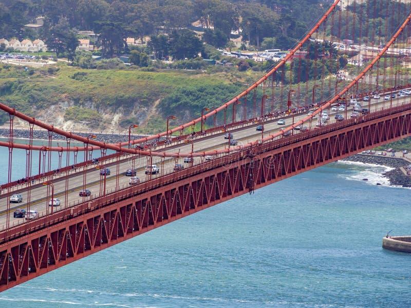 San Fransisco, Kalifornia, usa: Golden Gate Bridge, cieśnina i Krajowy Rekreacyjny teren, obrazy stock