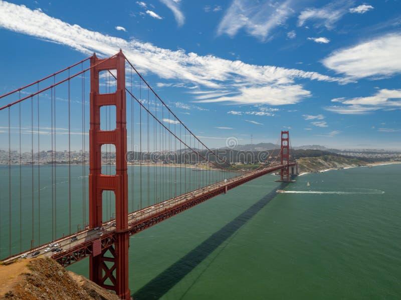 San Fransisco, Kalifornia, usa: Golden Gate Bridge, cieśnina i Krajowy Rekreacyjny teren, obraz stock