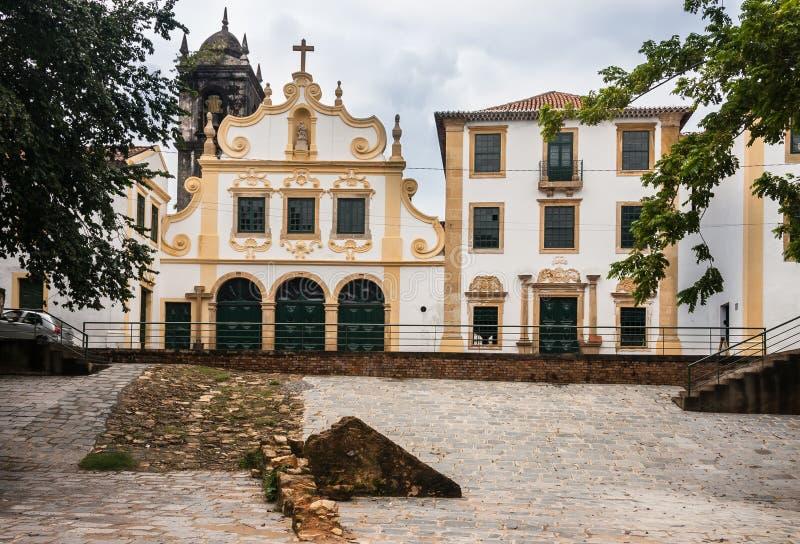 San Fransisco klasztor Fasadowy Olinda Brazylia fotografia royalty free