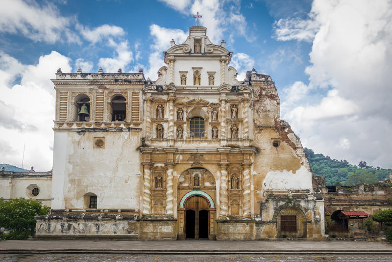 San Fransisco kościół - Antigua, Gwatemala zdjęcie stock