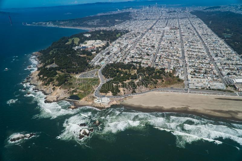 San Fransisco linia horyzontu zdjęcie stock