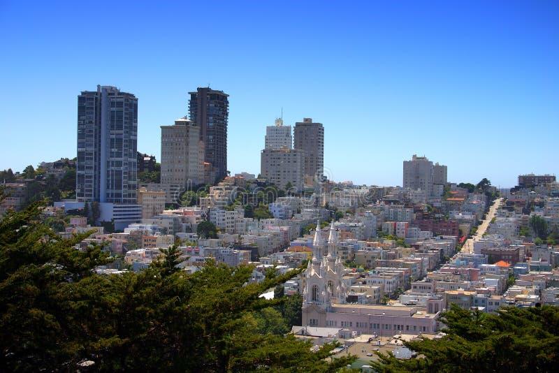 San Fransisco linia horyzontu zdjęcia royalty free