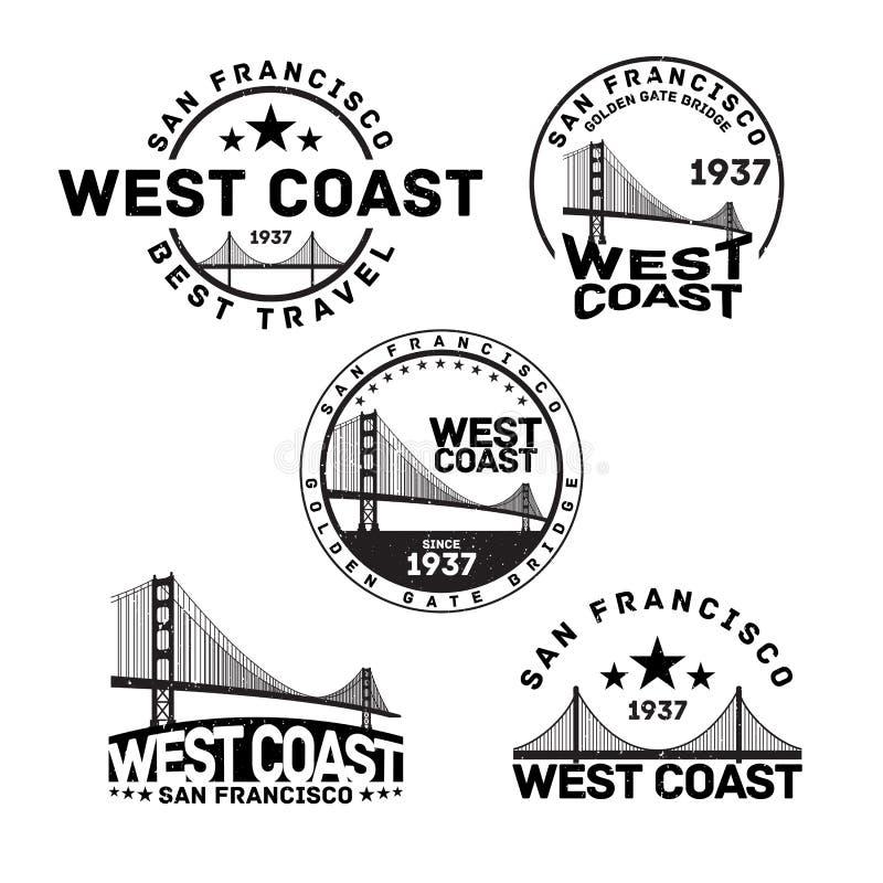 San Fransisco loga znaczek ilustracji