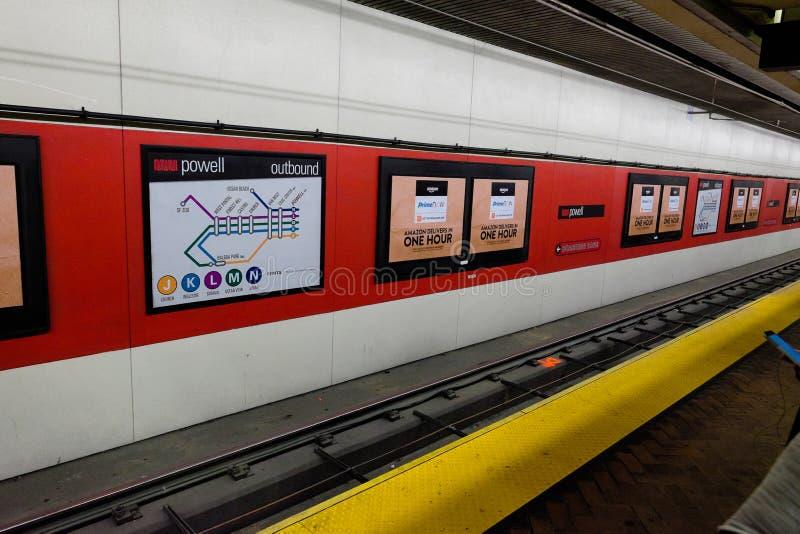 San Fransisco Muni metra transport zdjęcie royalty free