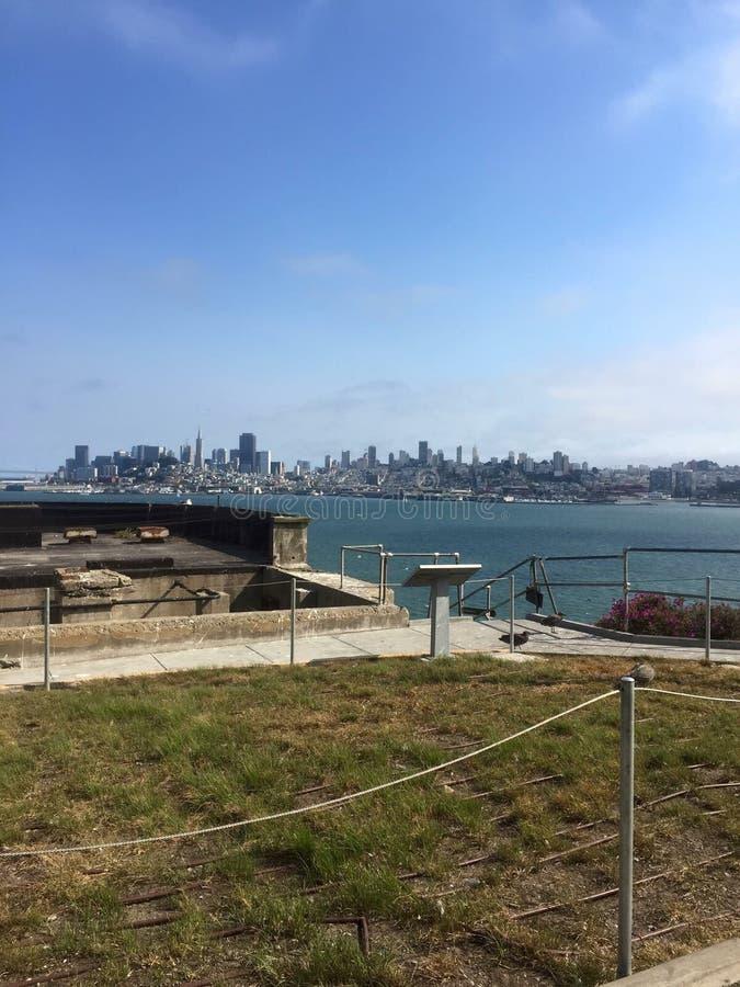 San Fransisco od Alcatraz zdjęcie royalty free