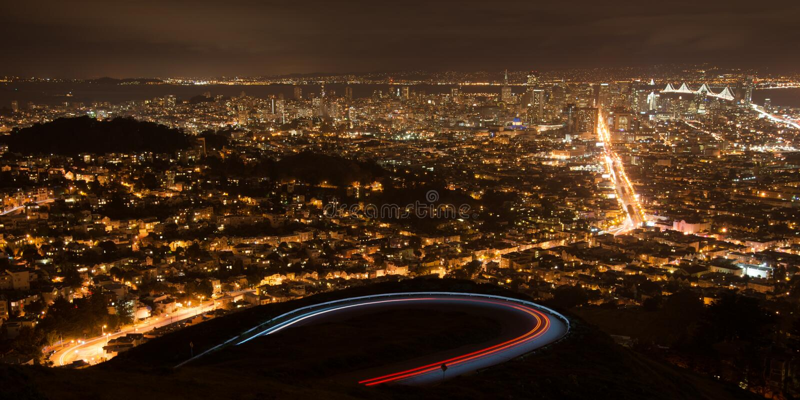 San Fransisco od bliźniaczych wież fotografia stock