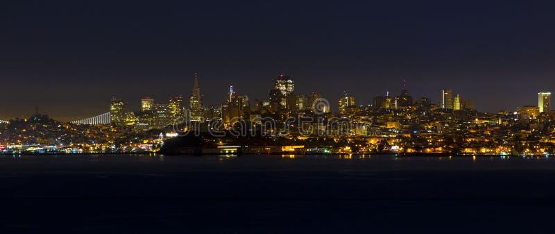 San Fransisco przy nocą zdjęcie stock