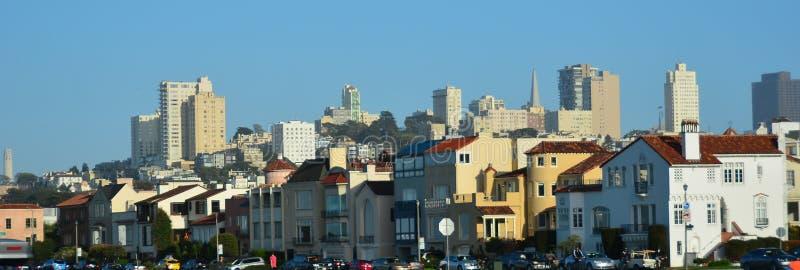 San Fransisco ` s Marina historyczny okręg obrazy royalty free