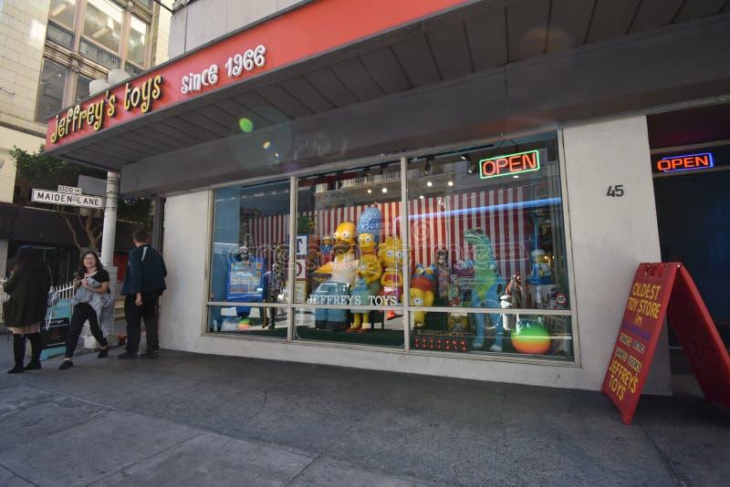 San Fransisco ` s stary i rodzina, posiadaliśmy zabawkarskiego sklep zdjęcie stock