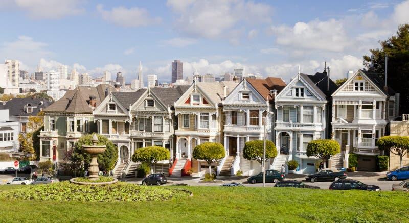 SAN FRANSISCO, usa - Malować damy zdjęcie royalty free