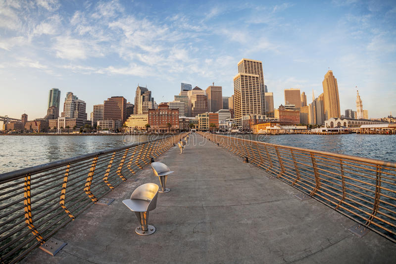 San Fransisco w rybim oku zdjęcia stock